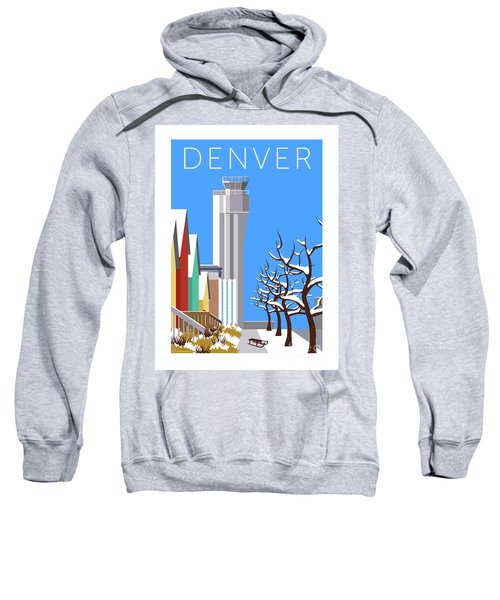Sweatshirt featuring the digital art Stapleton Winter by Sam Brennan