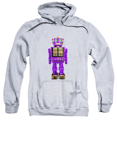 Star Strider Robot Purple On Black Sweatshirt