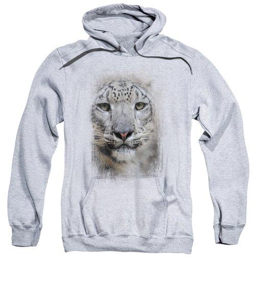 Stare Of The Snow Leopard Sweatshirt by Jai Johnson