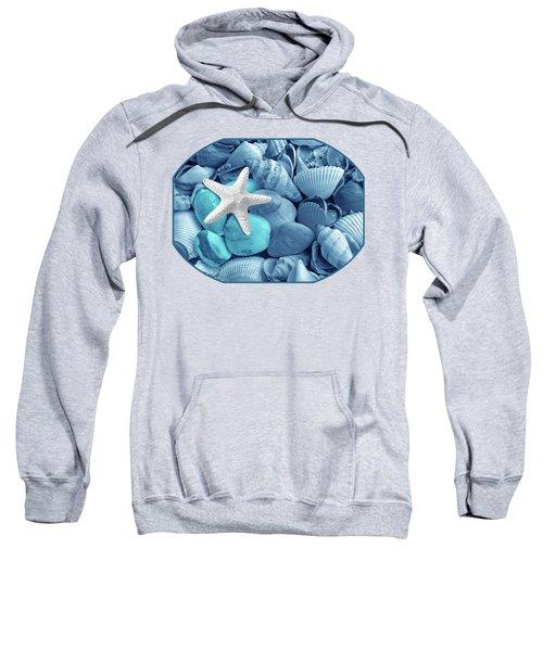 Starfish On The Beach In Blue Sweatshirt