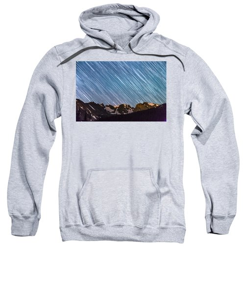 Stars Raining Down On The Colorado Indian Peaks Sweatshirt