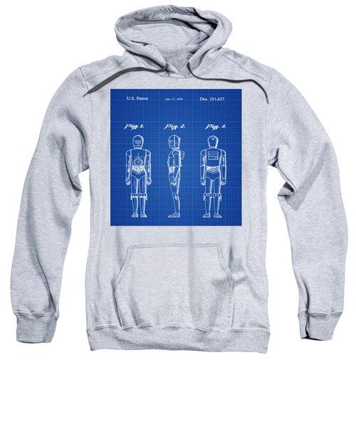Starwars C3p0 Blue Print Sweatshirt