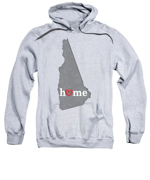 State Map Outline New Hampshire With Heart In Home Sweatshirt