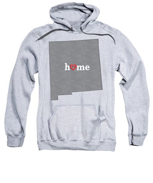 State Map Outline New Mexico With Heart In Home Sweatshirt