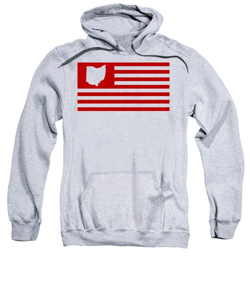 State Of Ohio - American Flag Sweatshirt