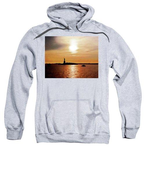 Statue Of Liberty At Sunset Sweatshirt