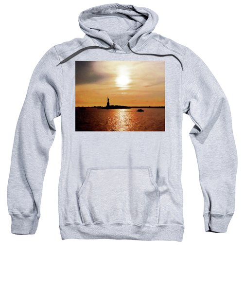 Statue Of Liberty At Sunset Sweatshirt
