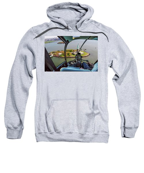 Statue Of Liberty Helicopter Sweatshirt
