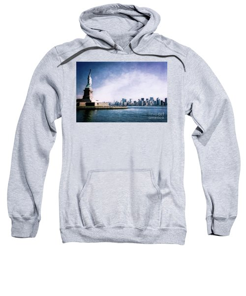 Sweatshirt featuring the photograph Statue Of Liberty by Scott Kemper