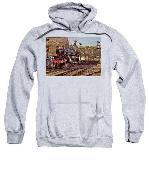 Steam Loco On Yorkshire Railway Sweatshirt
