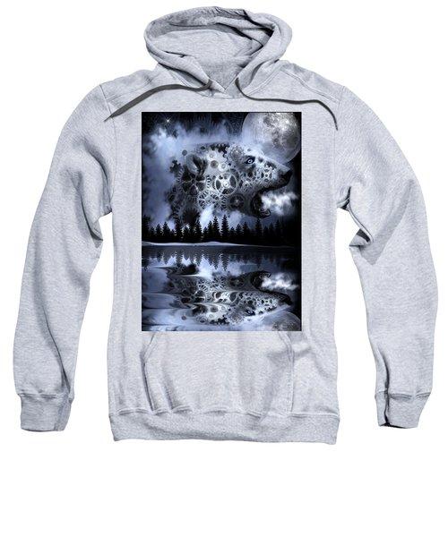 Steampunk Polar Bear Landscape Sweatshirt
