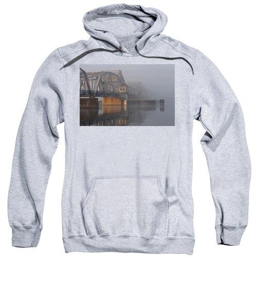 Steel Bridge In Fog Sweatshirt