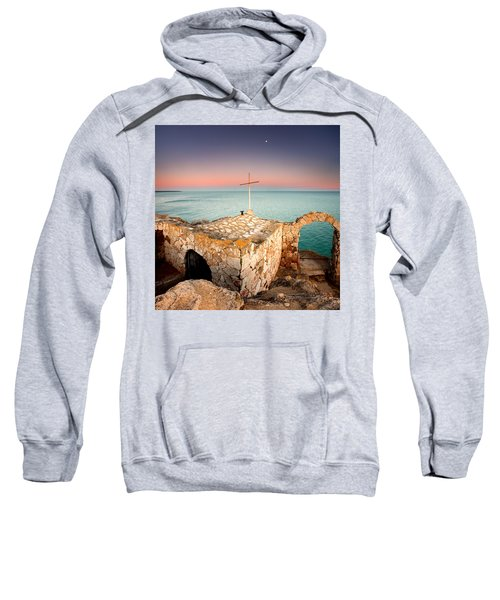 Sweatshirt featuring the photograph Stone Chapel by Evgeni Dinev