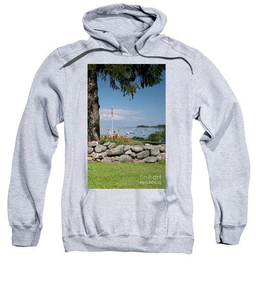 Stone Wall And Tenants Harbor, Maine  #8455 Sweatshirt