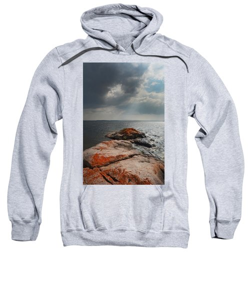 Storm Clouds Over Wall Island Sweatshirt