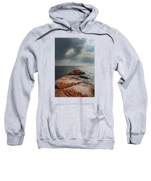 Storm Clouds Over Wall Island Sweatshirt