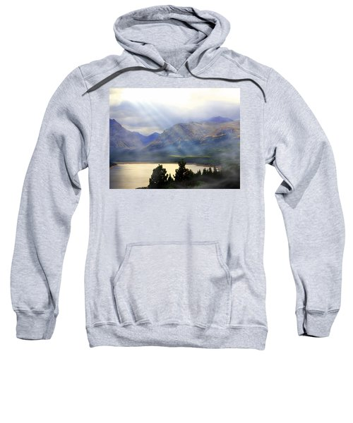 Storms A Coming-lower Two Medicine Lake Sweatshirt
