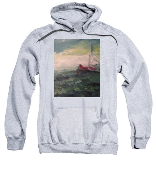 Stormy Sailboat Sweatshirt by Roxy Rich