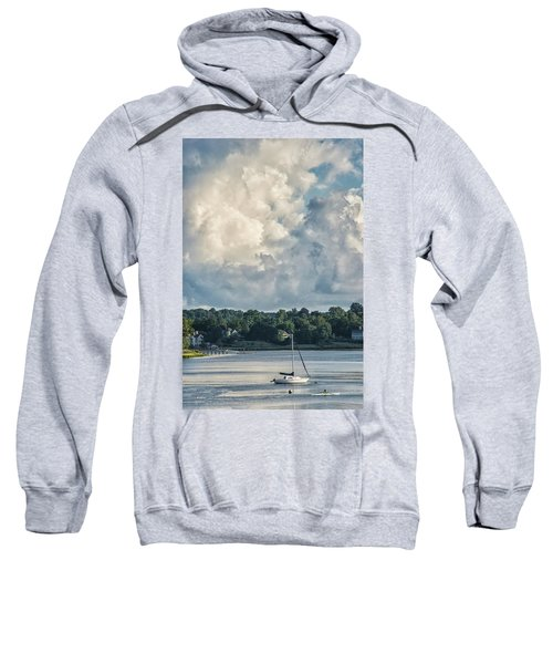 Stormy Sunday Morning On The Navesink River Sweatshirt