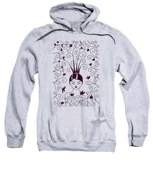 Strange Hairstyle And Flowery Swirls Sweatshirt
