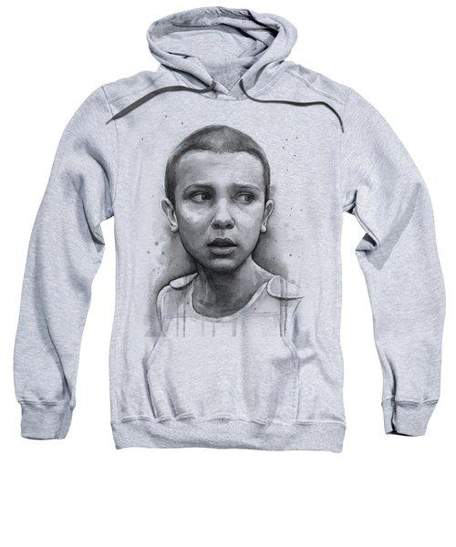 Stranger Things Eleven Upside Down Art Portrait Sweatshirt