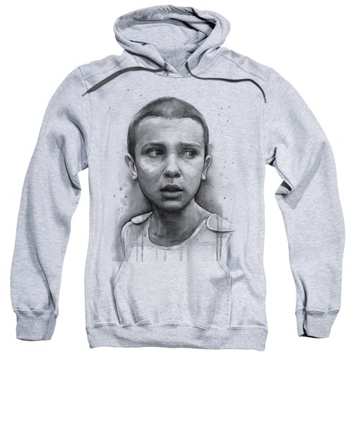 Stranger Things Eleven Upside Down Art Portrait Sweatshirt