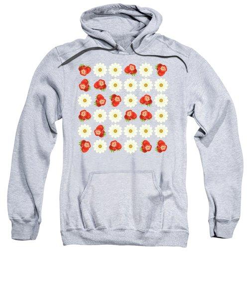 Strawberries And Daisies Sweatshirt