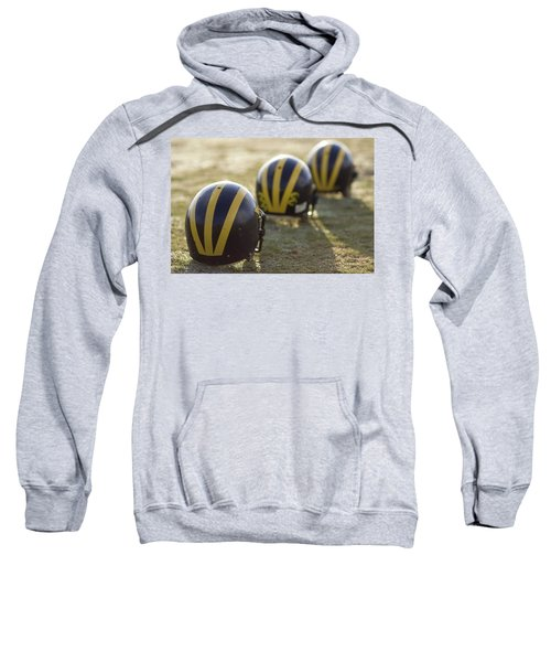 Striped Helmets On A Yard Line Sweatshirt