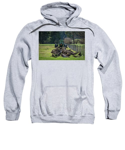 Stuck In The Muck Agriculture Art By Kaylyn Franks Sweatshirt