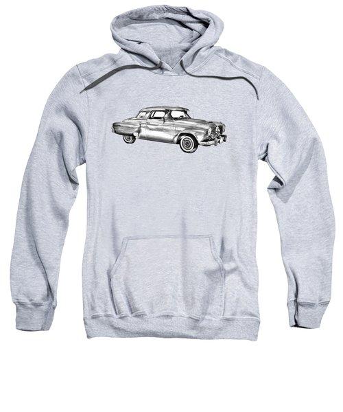 Studebaker Champian Antique Car Illustration Sweatshirt