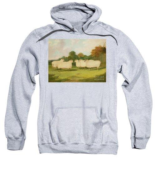 Study Of Sheep In A Landscape   Sweatshirt