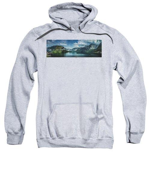 Stunning Lake Hallstatt Panorama Sweatshirt