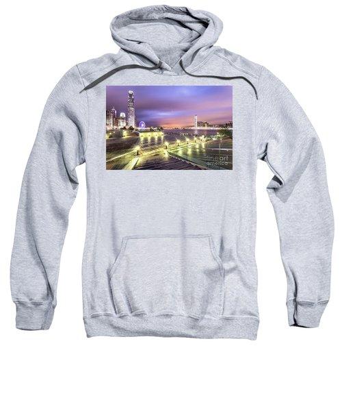 Stunning Night View Of The Famous Hong Kong Island Skyline And V Sweatshirt