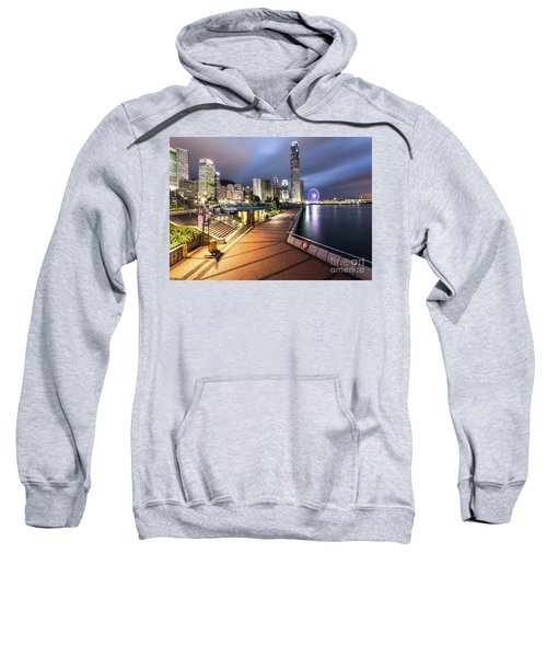 Stunning View Of Hong Kong Central Business District Skyscrapers Sweatshirt