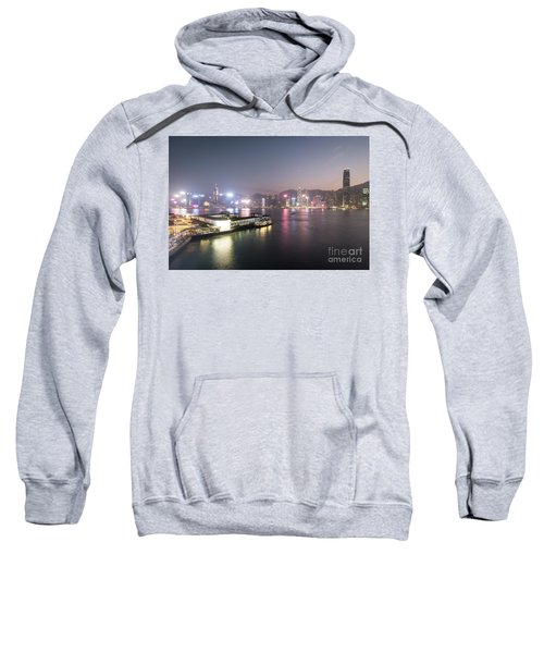 Stunning View Of The Twilight Over The Victoria Harbor And Star  Sweatshirt
