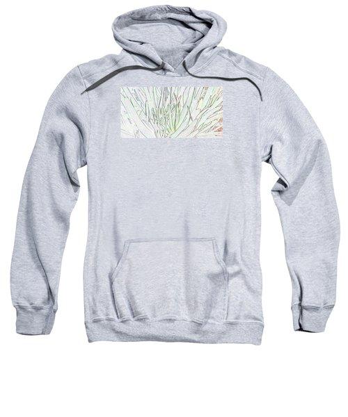 Succulent Leaves In High Key Sweatshirt by Nareeta Martin