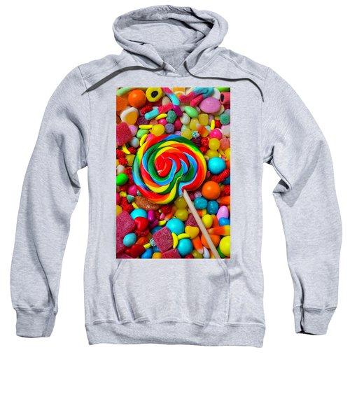 Sucker On Pile Of Candy Sweatshirt
