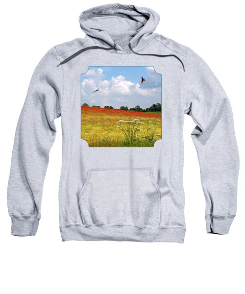 Summer Spectacular - Red Kites Over Poppy Fields Sweatshirt