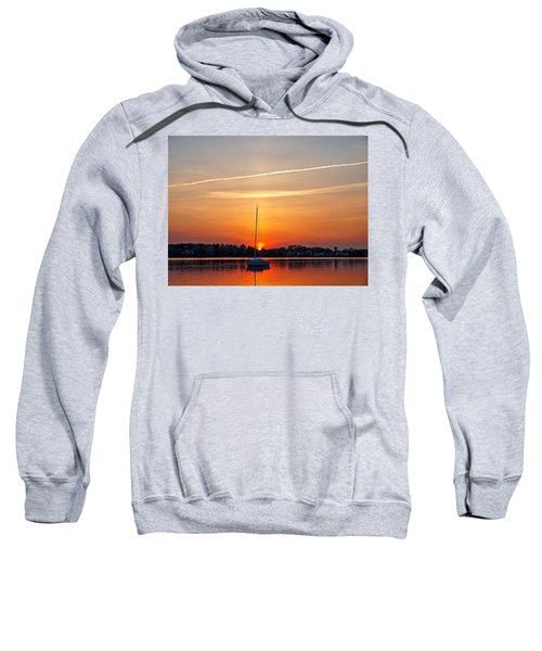Summer Sunset At Anchor Sweatshirt