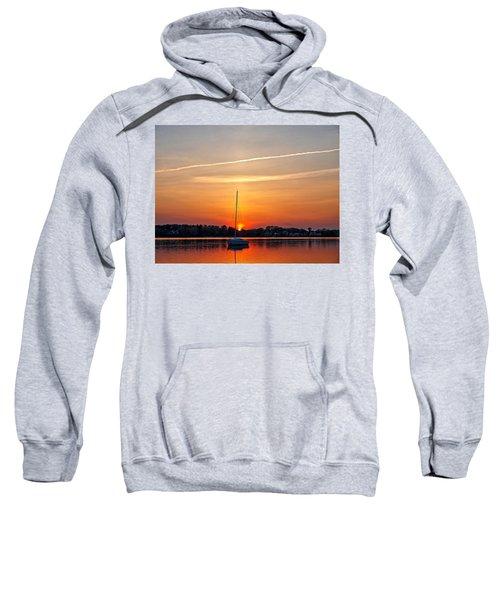 Summer Sunset At Anchor Sweatshirt