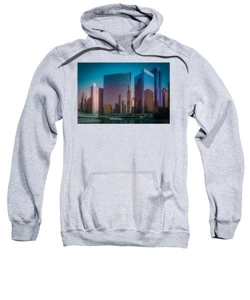 Summer Sunset In Chicago Downtown  Sweatshirt