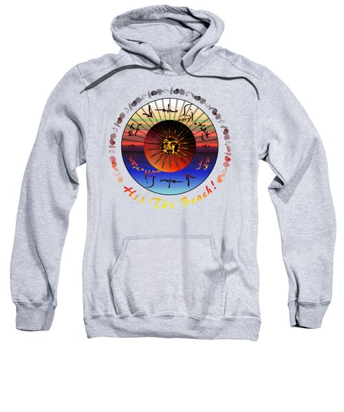 Sun Face Stylized Sweatshirt