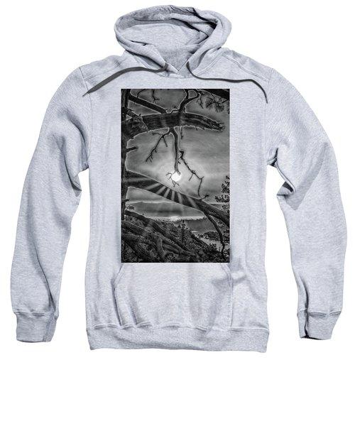 Sun Ornament - Black And White Sweatshirt
