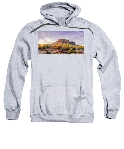 Sun Peaking At Lost Dutchman State Park - Apache Junction Arizona Sweatshirt