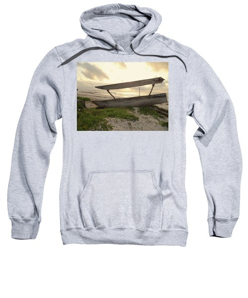 Sun Rays And Wooden Dhows Sweatshirt