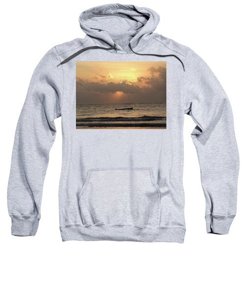 Sun Rays On The Water With Wooden Dhows Sweatshirt