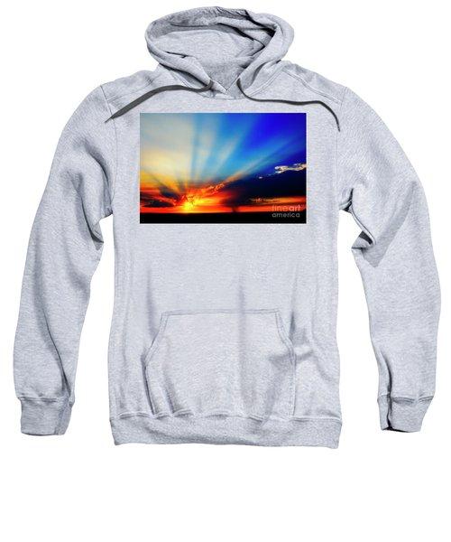 Sweatshirt featuring the photograph Sun Rays by Scott Kemper