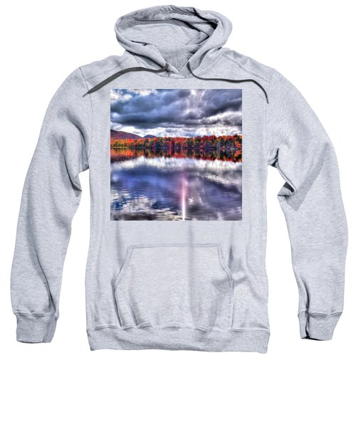 Sweatshirt featuring the photograph Sun Streaks On West Lake by David Patterson