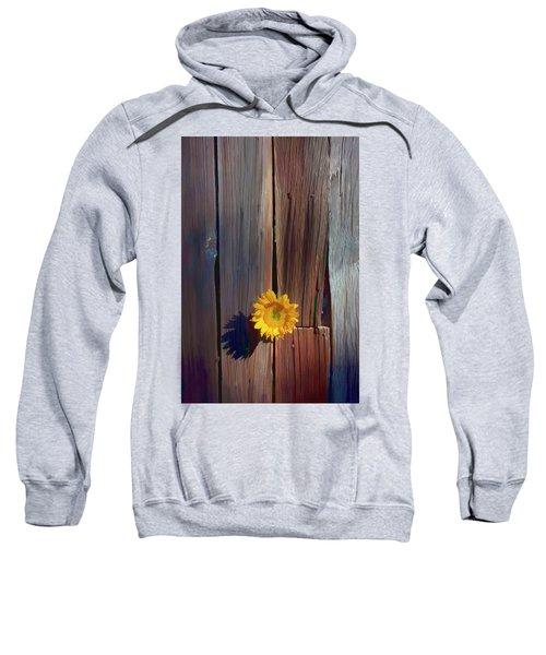 Sunflower In Barn Wood Sweatshirt