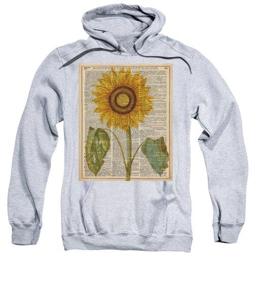 Sunflower Over Dictionary Page Sweatshirt